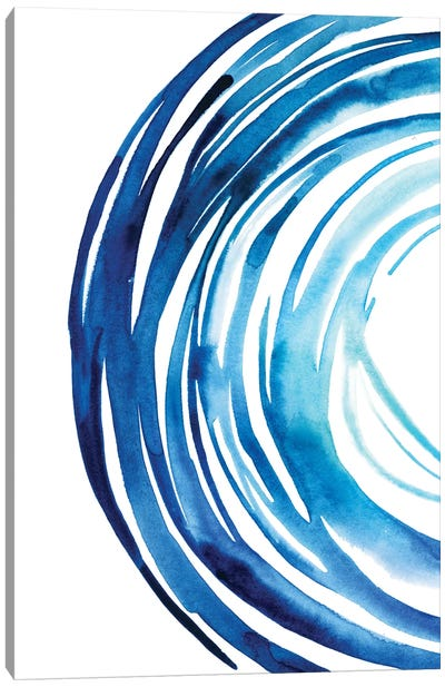 Blue Vortex I Canvas Art Print