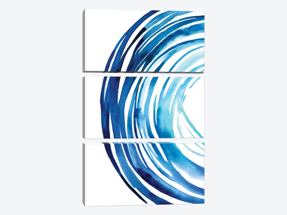 Blue Vortex I 3-piece Canvas Print