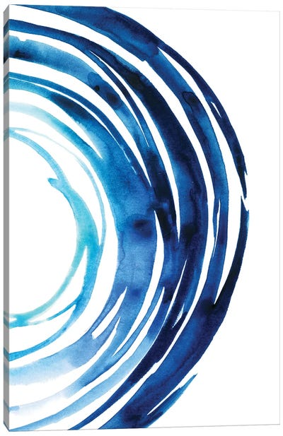 Blue Vortex II Canvas Art Print
