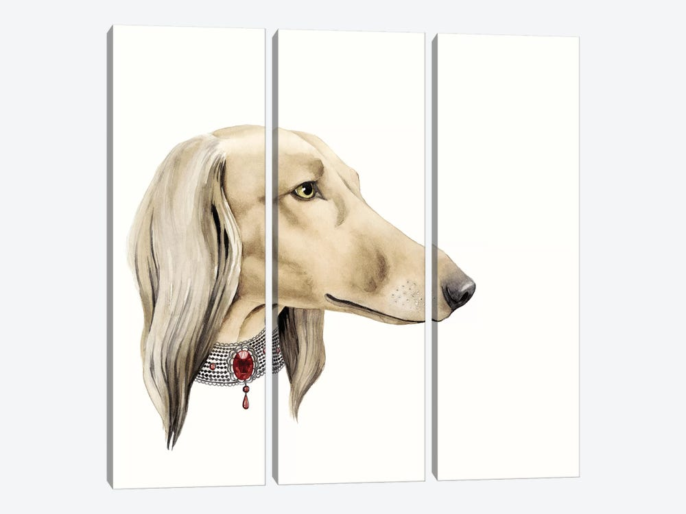Haute Hounds IV 3-piece Canvas Art Print