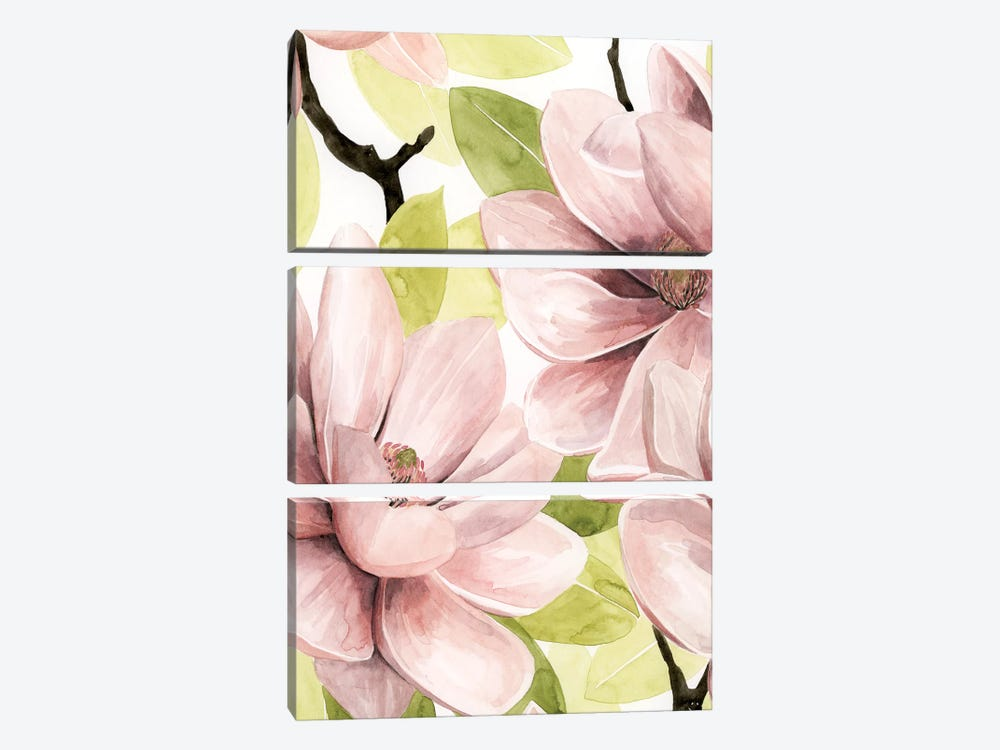 Blush Magnolia I by Grace Popp 3-piece Canvas Art