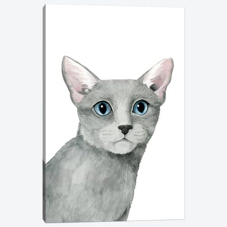 Cat Portrait I Canvas Print #POP622} by Grace Popp Canvas Artwork