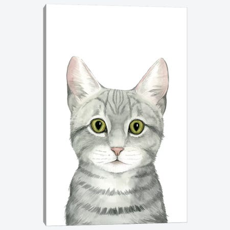 Cat Portrait III Canvas Print #POP624} by Grace Popp Art Print