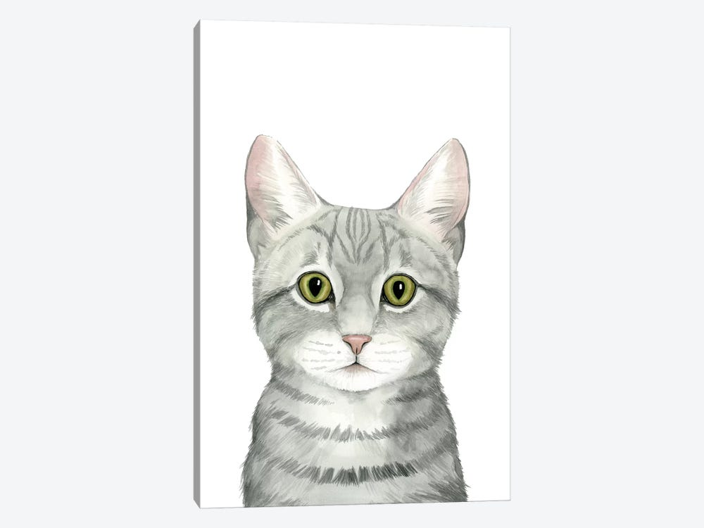 Cat Portrait III 1-piece Canvas Art