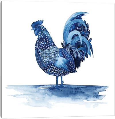 Cobalt Farm Animals IV Canvas Art Print