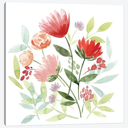 Country Bouquet I Canvas Print #POP630} by Grace Popp Art Print
