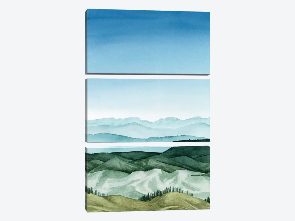 Crystal Landscape I by Grace Popp 3-piece Art Print