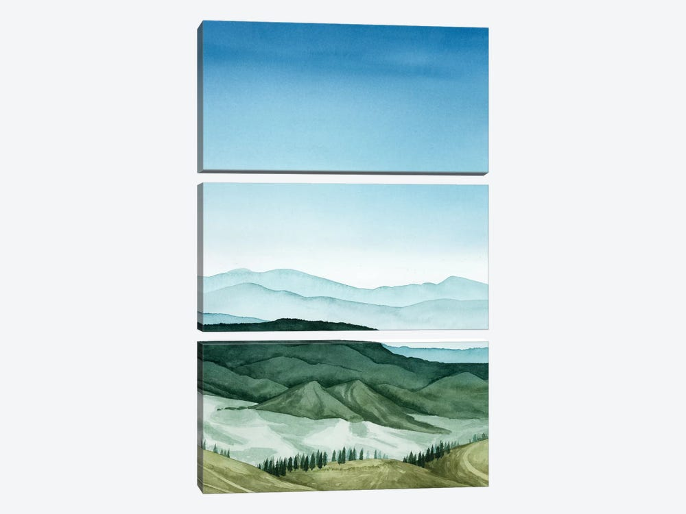 Crystal Landscape II 3-piece Canvas Artwork