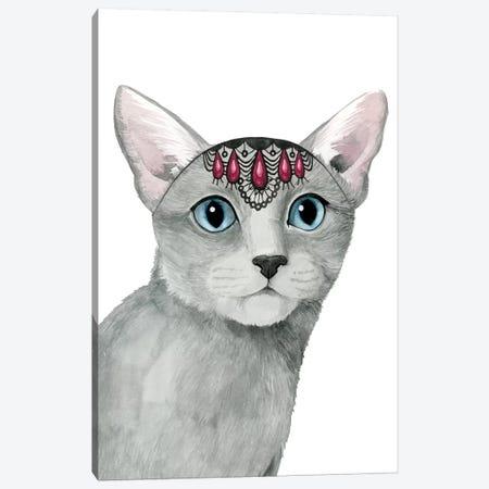 Downton Cat I Canvas Print #POP634} by Grace Popp Canvas Wall Art