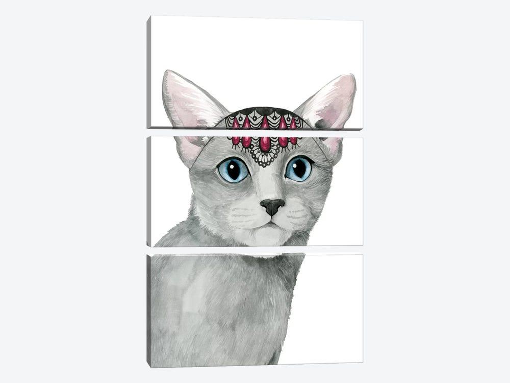 Downton Cat I by Grace Popp 3-piece Canvas Art Print