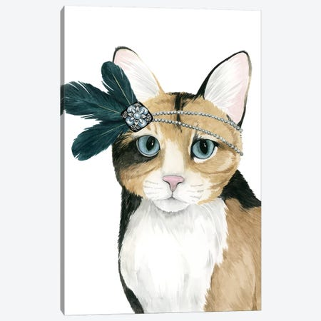 Downton Cat II Canvas Print #POP635} by Grace Popp Canvas Artwork