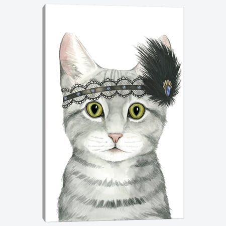 Downton Cat III Canvas Print #POP636} by Grace Popp Canvas Artwork