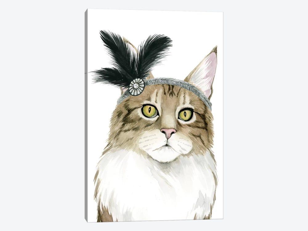 Downton Cat IV by Grace Popp 1-piece Canvas Wall Art