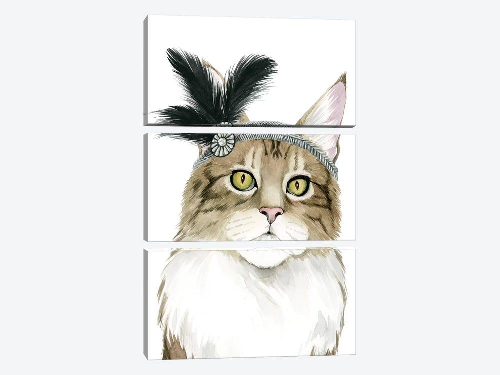 Downton Cat IV by Grace Popp 3-piece Canvas Wall Art