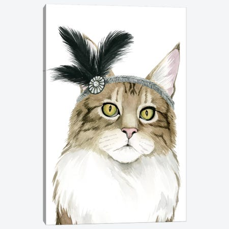 Downton Cat IV Canvas Print #POP637} by Grace Popp Canvas Artwork