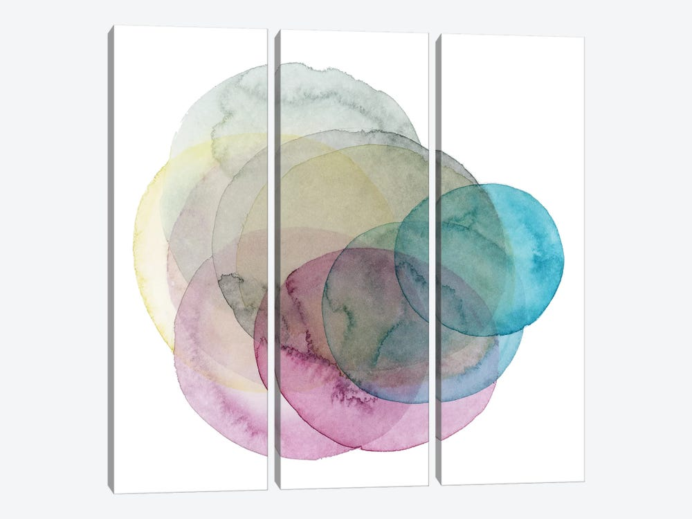 Evolving Planets II by Grace Popp 3-piece Canvas Art Print