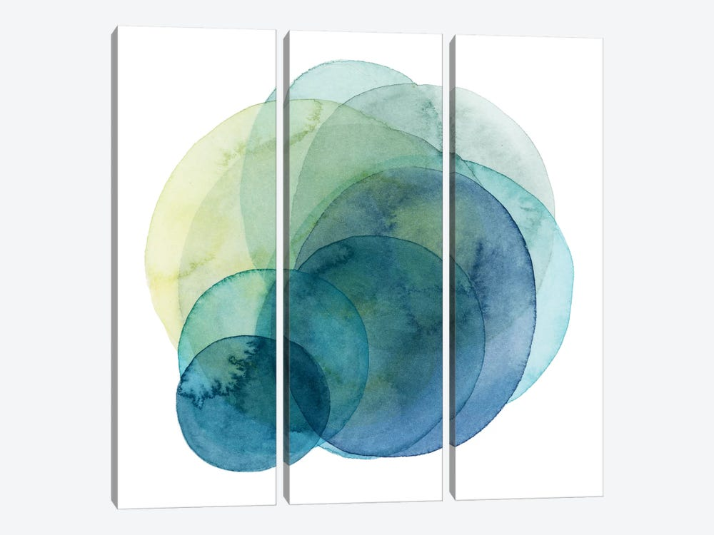 Evolving Planets IV by Grace Popp 3-piece Canvas Art Print