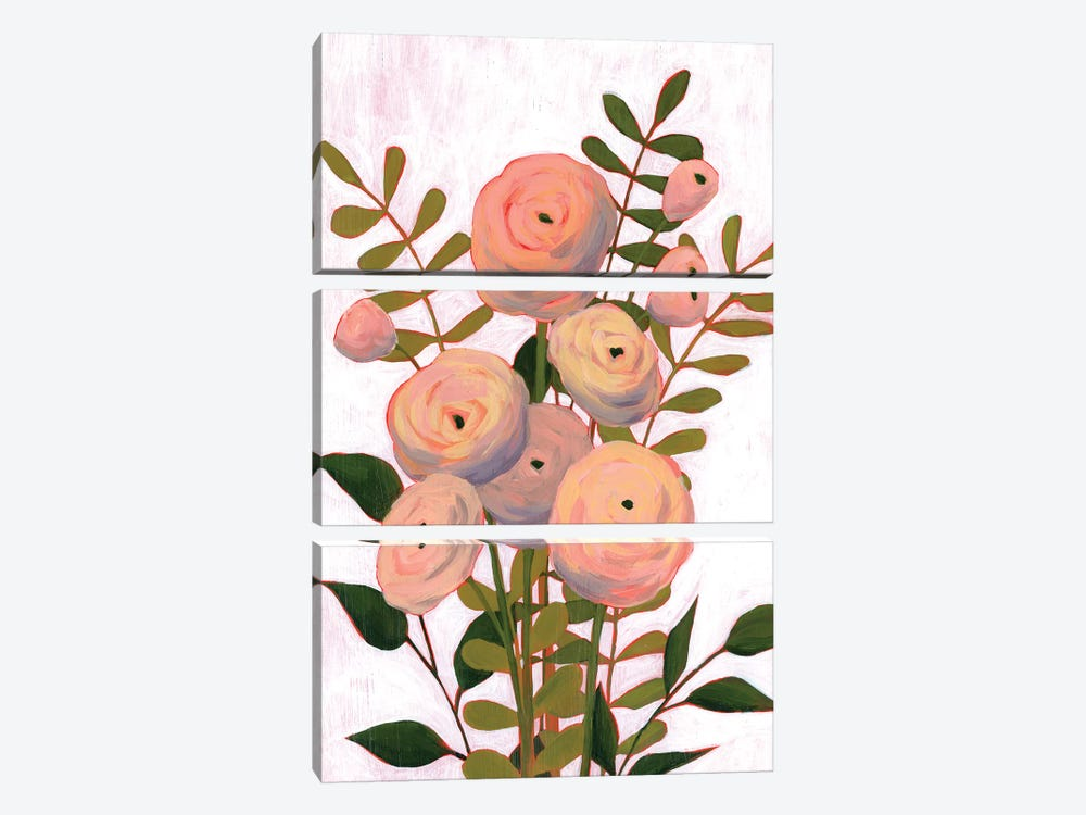 Flower Burst II by Grace Popp 3-piece Canvas Print
