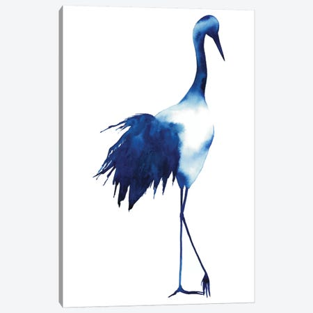 Ink Drop Crane I Canvas Print #POP64} by Grace Popp Canvas Artwork