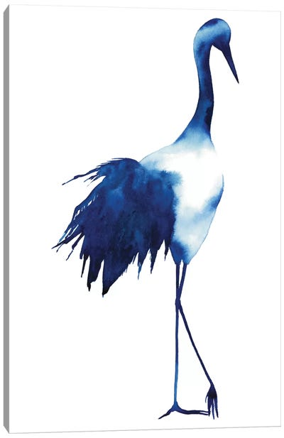 Ink Drop Crane I Canvas Print #POP64