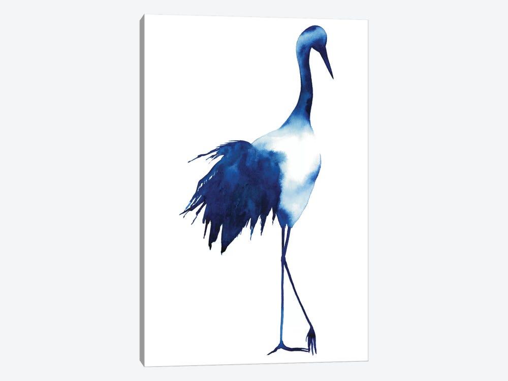 Ink Drop Crane I by Grace Popp 1-piece Canvas Wall Art