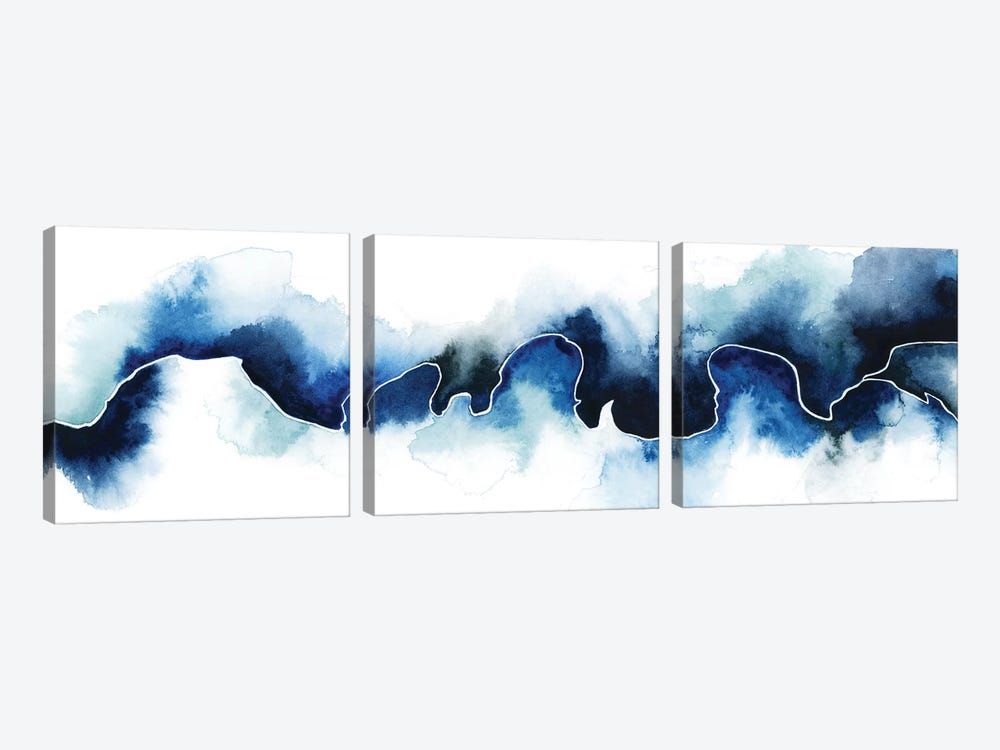 Glacial Break I by Grace Popp 3-piece Canvas Art Print