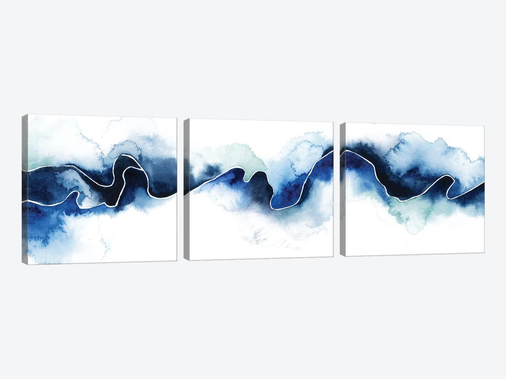 Glacial Break III by Grace Popp 3-piece Canvas Print