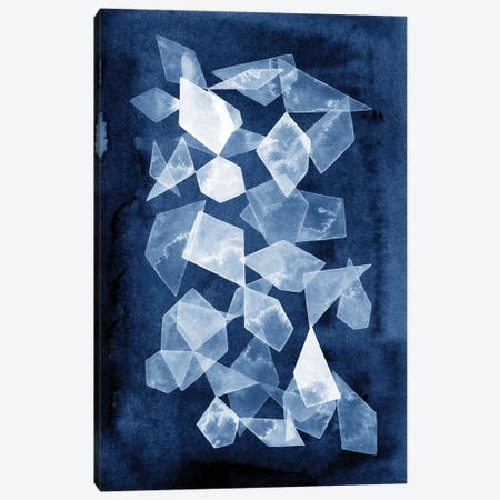Indigo Glass I Canvas Print #POP655} by Grace Popp Canvas Wall Art
