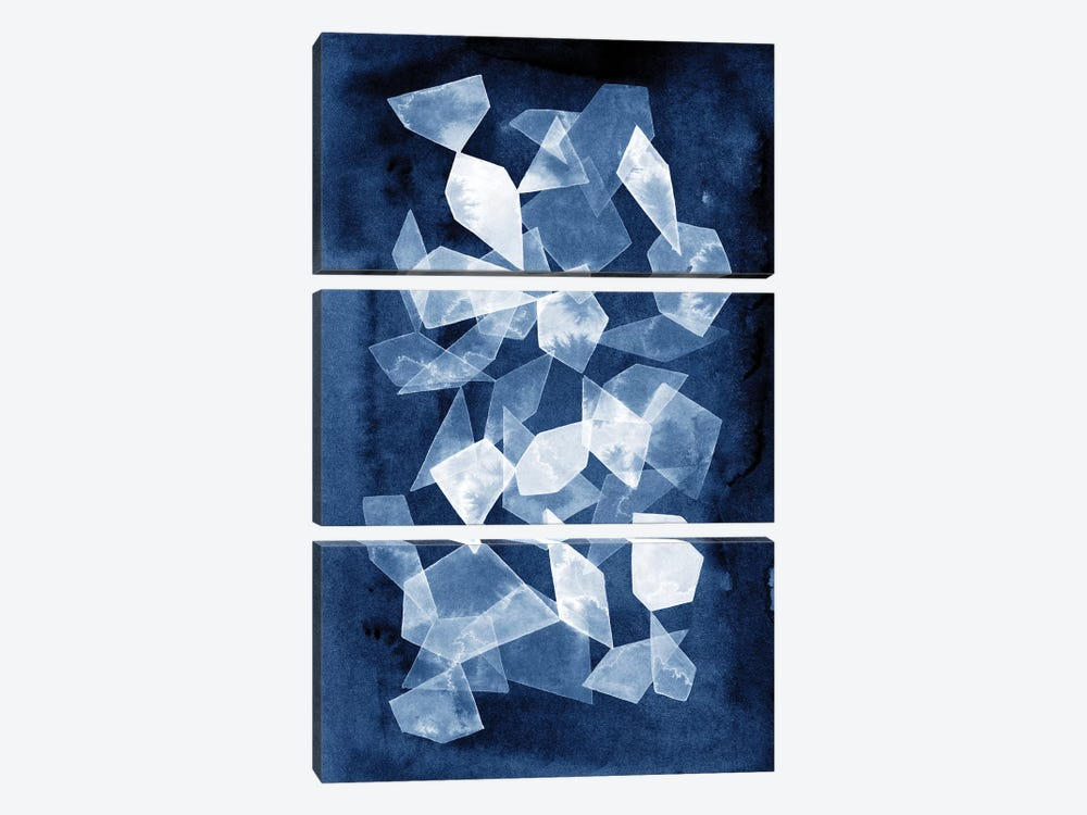 Indigo Glass II by Grace Popp 3-piece Art Print
