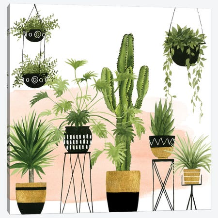 Indoor Oasis I Canvas Print #POP657} by Grace Popp Canvas Artwork