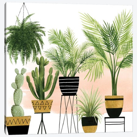 Indoor Oasis II Canvas Print #POP658} by Grace Popp Canvas Art Print