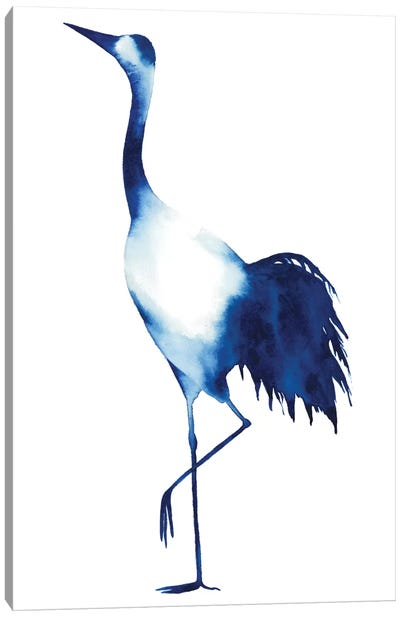 Ink Drop Crane II Canvas Art Print