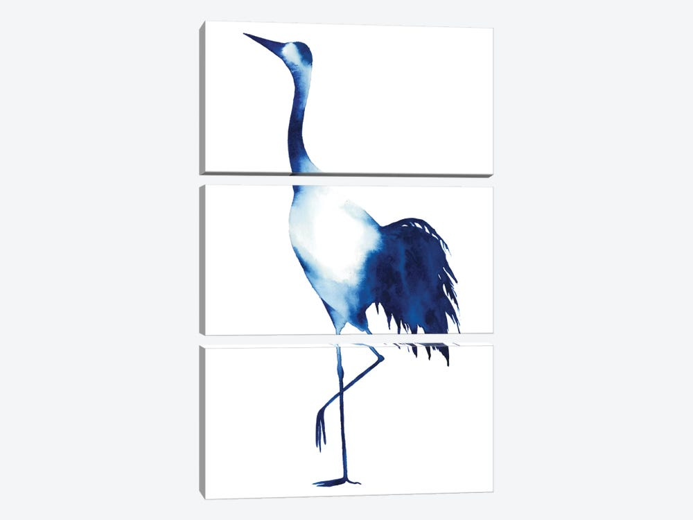 Ink Drop Crane II by Grace Popp 3-piece Canvas Print