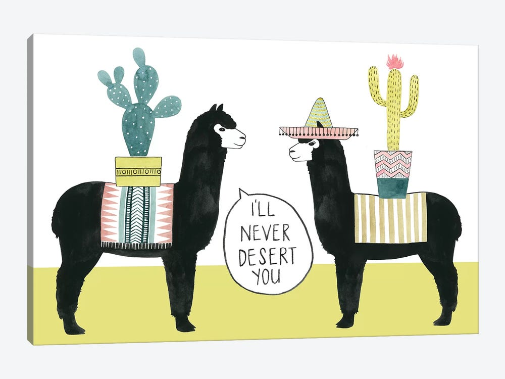 Let's Taco Bout Love II by Grace Popp 1-piece Canvas Artwork