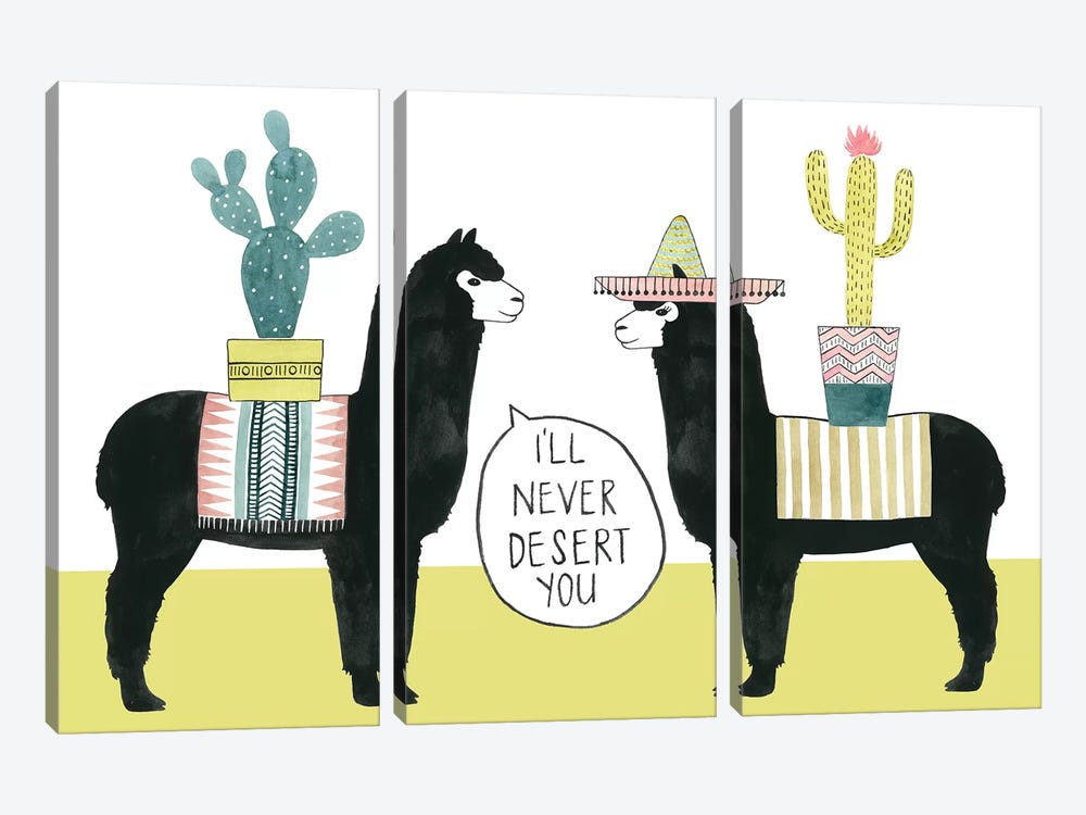 Let's Taco Bout Love II 3-piece Canvas Art