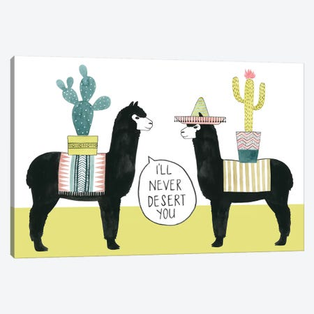 Let's Taco Bout Love II Canvas Print #POP662} by Grace Popp Canvas Wall Art
