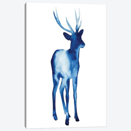 Ink Drop Rusa Deer I Canvas Print #POP66} by Grace Popp Canvas Artwork