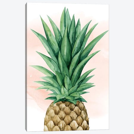 Pineapple On Coral I Canvas Print #POP677} by Grace Popp Canvas Artwork