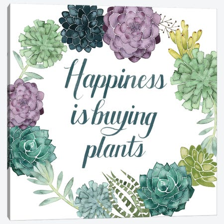 Plant Happiness I Canvas Print #POP679} by Grace Popp Canvas Art Print