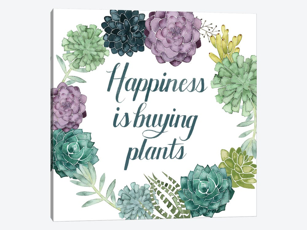 Plant Happiness I by Grace Popp 1-piece Canvas Wall Art