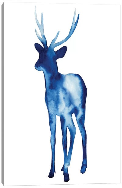 Ink Drop Rusa Deer II Canvas Art Print