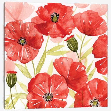Poppy Screen I 3-Piece Canvas #POP685} by Grace Popp Art Print