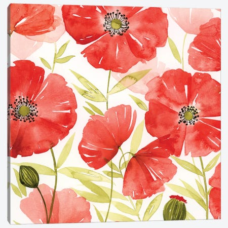 Poppy Screen II 3-Piece Canvas #POP686} by Grace Popp Canvas Art Print