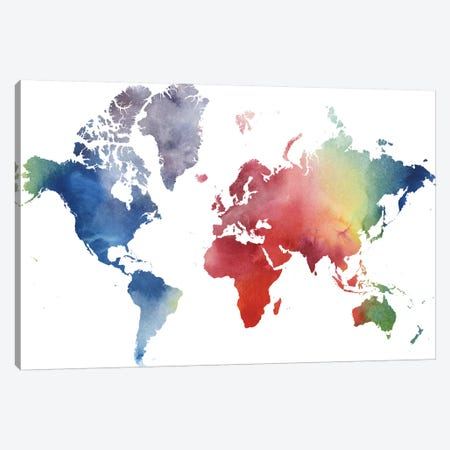 Rainbow World Canvas Print #POP691} by Grace Popp Art Print