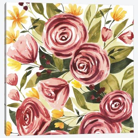 Rouge Bouquet I Canvas Print #POP692} by Grace Popp Canvas Art Print
