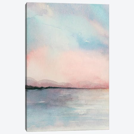 Sea Sunset Triptych I Canvas Print #POP694} by Grace Popp Canvas Art