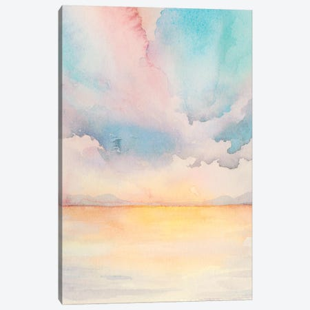 Sea Sunset Triptych II Canvas Print #POP695} by Grace Popp Canvas Artwork