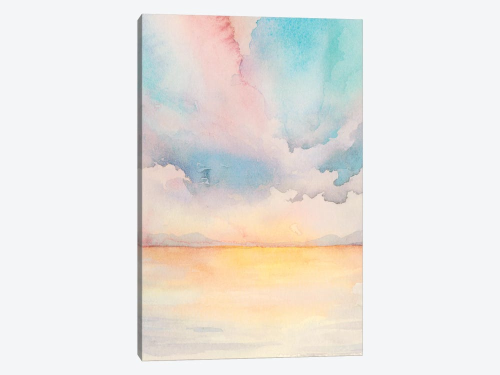 Sea Sunset Triptych II 1-piece Canvas Art