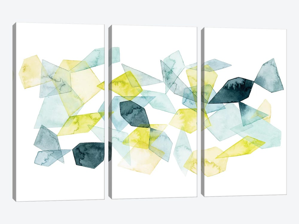 Seaglass Abstract I by Grace Popp 3-piece Canvas Art