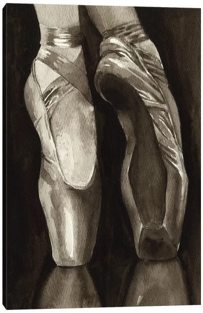 Ballet Shoes I Canvas Print #POP6